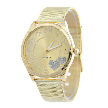 Heart Alloy Band Analog Quartz Watch