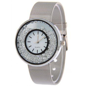 Natural Beads Steel Band Quartz Watch