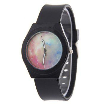 Starry Sky Pattern Silicone Quartz Watch