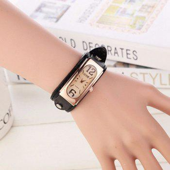 Artificial Leather Geometric Wrist Bracelet Watch