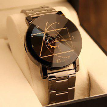 Gear Geometric Quartz Watch with Steel Band