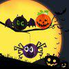 3PCS BRELONG DIY Paper Lantern Halloween Festival Decoration - COLORMIX 12CM SPIDER+PUMPKIN+BAT