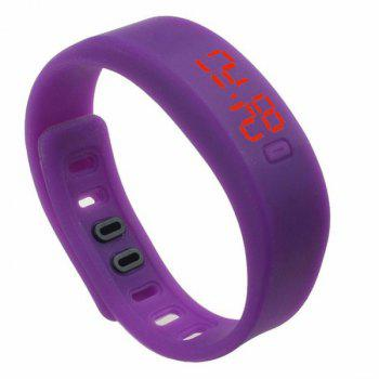 LED Silicone Sport Digital Wristband Watch - PURPLE PURPLE