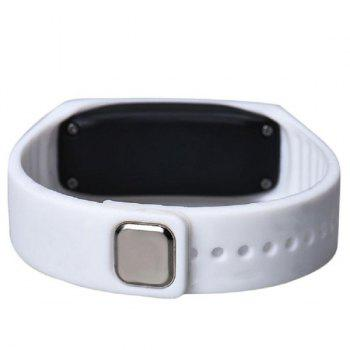 Silicone Digital Sport LED Wristband Watch - WHITE
