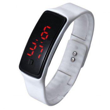 Silicone Digital Sport LED Wristband Watch