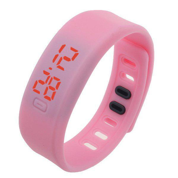 LED Sportif Digital Bracelet de Montre de Silicone - Rose Pâle