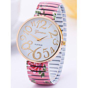 Alloy Flower Leaves Pattern Quartz Watch