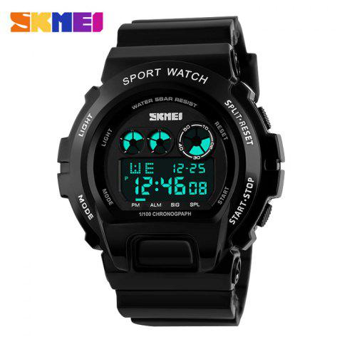 SKMEI 1150 Sports Backlight Digital Male Watch avec 5ATM Waterproof Grade - Noir