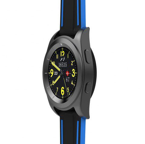 NO.1 G6 Bluetooth 4.0 Heart Rate Monitor PSG Smart Watch - BLACK TPU STRAP