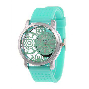 Analog Silicone Roman Numerals Quartz Watch