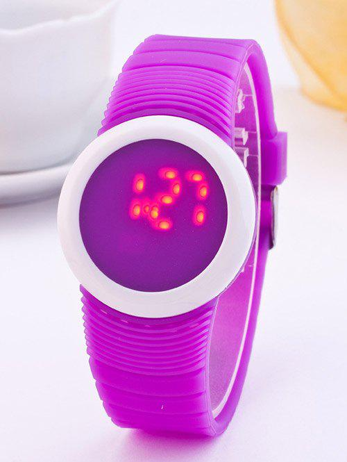 LED Digital Rond Sportif Montre de Silicone - Incarnadin