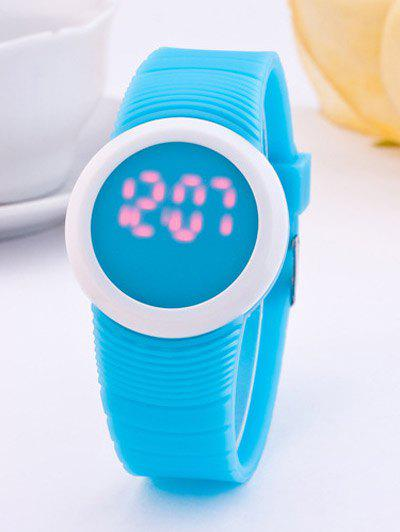 LED Digital Rond Sportif Montre de Silicone - Pers
