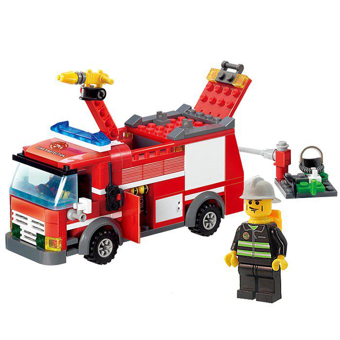 206pcs ABS Building Block Fire Engine Model DIY for Kids joy joytown j25590 city football field model building block 251pcs diy educational toys for children compatible legoe