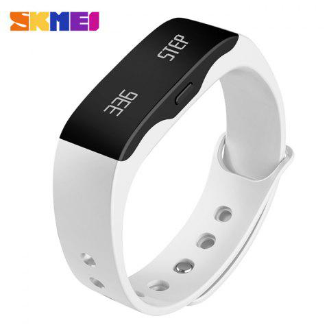 SKMEI L28T Real-time Sports Track Smart Wristband with 30m Waterproof Grade - WHITE