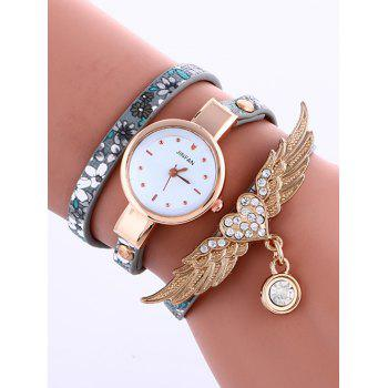 Casual Layered Heart Wings Watch