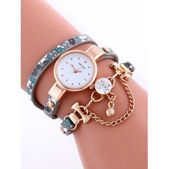 Casual Layered Chain Beaded Watch