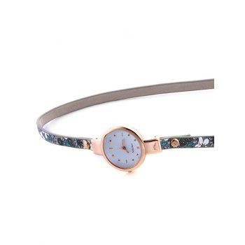 Casual Layered Chain Beaded Watch -  GRAY