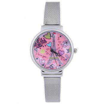 Colorful Love Tower Steel Band Quartz Watch
