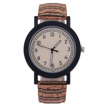 Analog PU Leather Quartz Watch