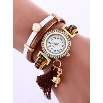 Casual Layered Faux Pearl Fringe Watch - DUN DUN