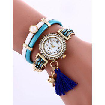 Casual Layered Faux Pearl Fringe Watch