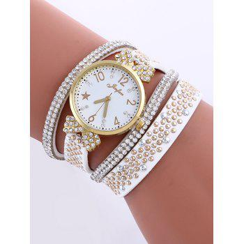 Casual Layered Rhinestone Star Watch