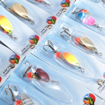30pcs Fishing Bait Hard Lure with Hook / Sequin -  COLORMIX