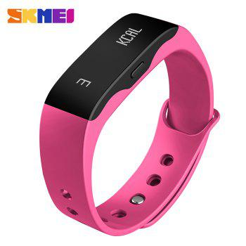 SKMEI L28T Real-time Sports Track Smart Wristband with 30m Waterproof Grade - ROSE RED ROSE RED
