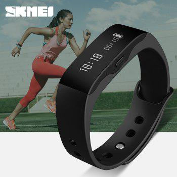 SKMEI L28T Real-time Sports Track Smart Wristband with 30m Waterproof Grade - BLACK