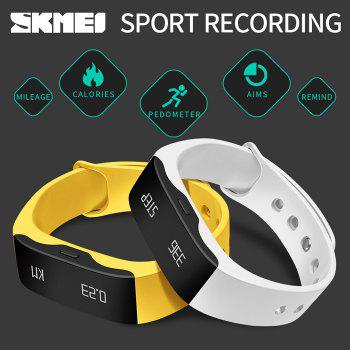 SKMEI L28T Real-time Sports Track Smart Wristband with 30m Waterproof Grade - ROSE RED