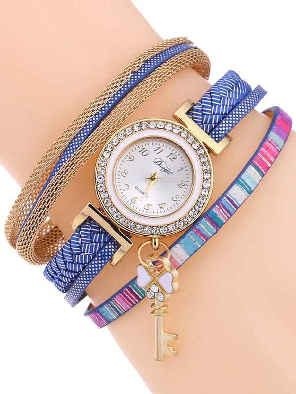 Casual Layered Clover Key Watch - ROYAL BLUE
