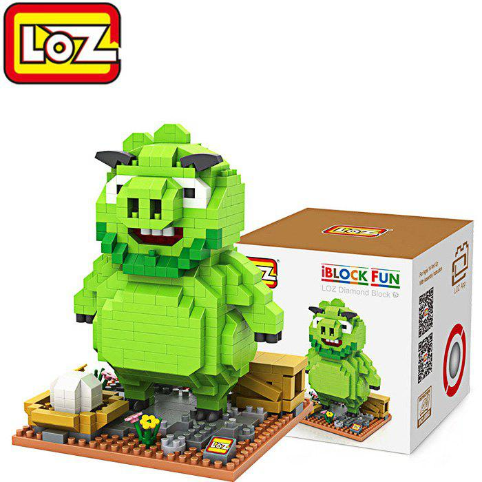 LOZ ABS Cartoon Pig Figure Building Block Educational Movie Product Kid Toy - 550Pcs 1pc alien vs predator mixed human avp abs 23cm action figure model collectie kids toy movie film brinquedos opp bag