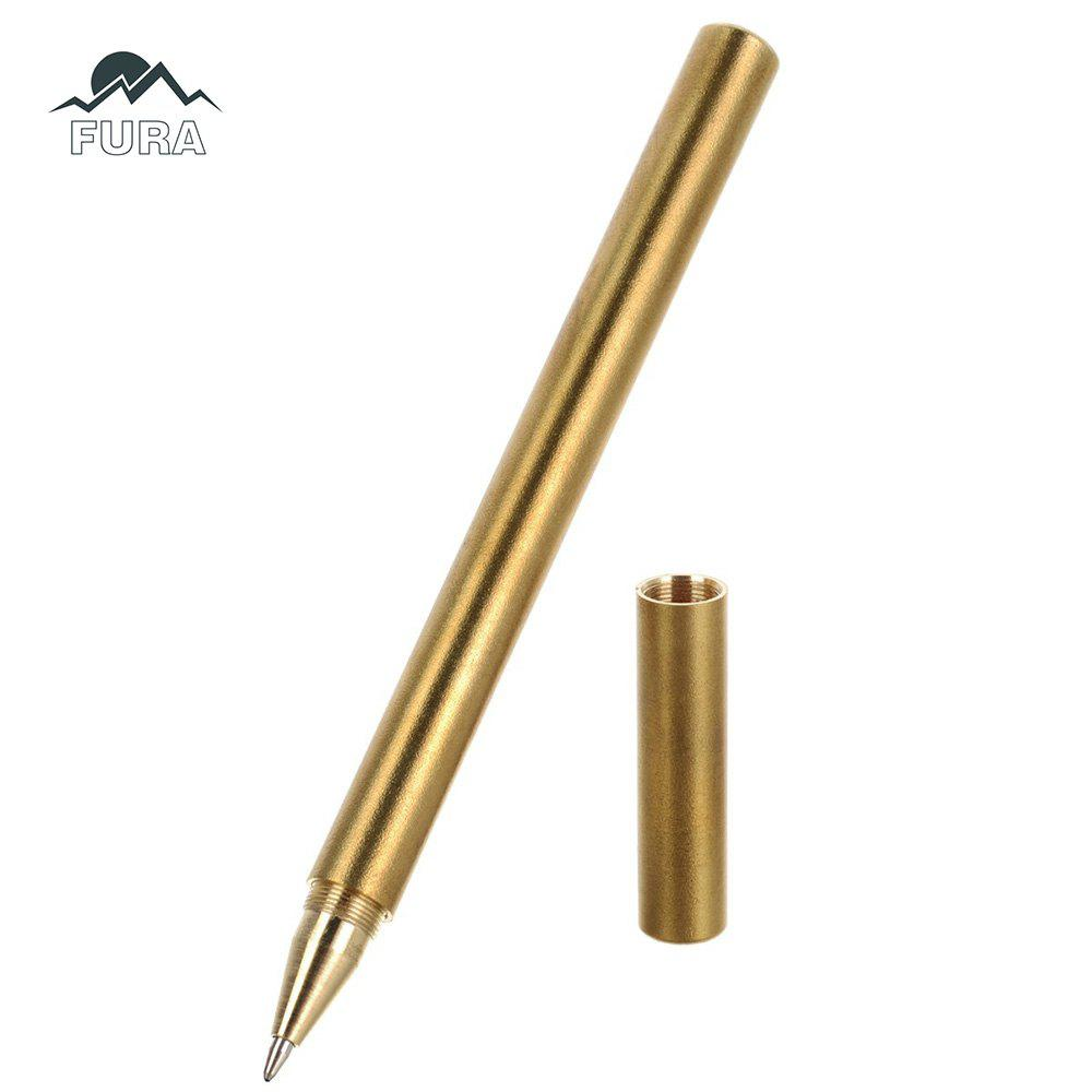 FURA Practical Brass Tactical Gel Pen with Black Refill
