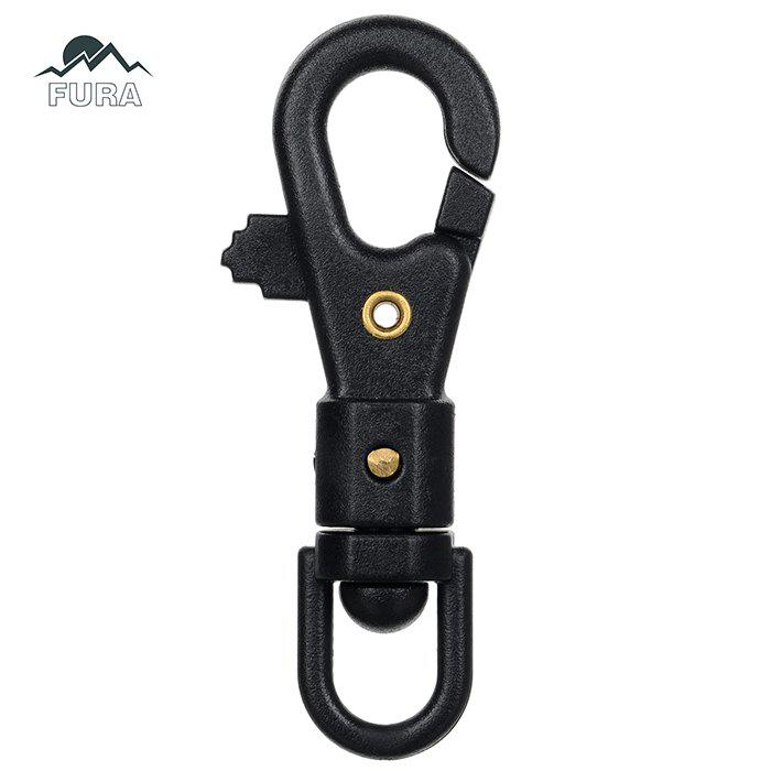 FURA 360 Degree Rotatable Rope Hook Multi-Functional Nylon Steel Fastener Clip - 1PC