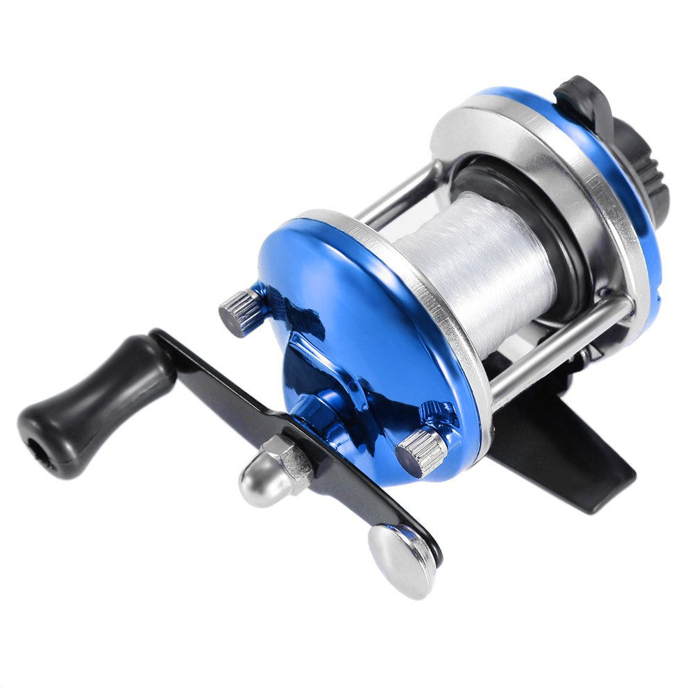 Fish Tackle Fishing Baitcasting Reel with 50m LineHome<br><br><br>Color: BLUE