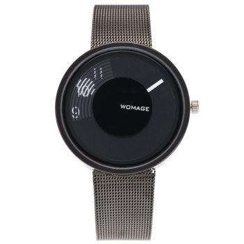 Embellished Dial Plate Digital Analog Watch
