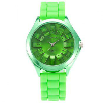 Digital Analog Adorn Silicone Watch