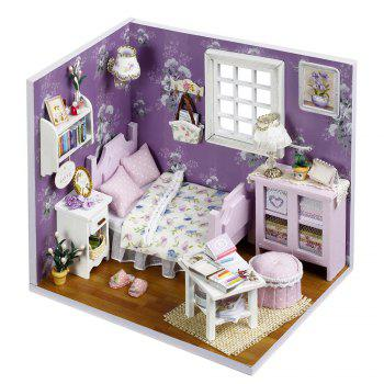 DIY Wooden Doll House Miniature Kit with LED Light Furniture Handcraft Toy