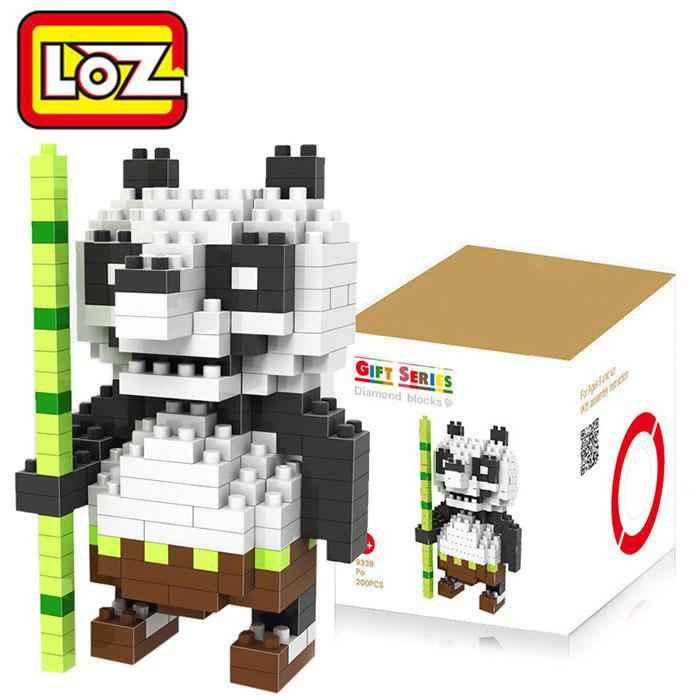 LOZ 200Pcs Cute Panda Building Block Creative Kid Toy M - 9339 - WHITE/BLACK