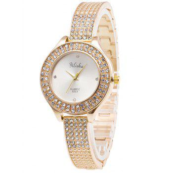 Rhinestone Steel Quartz Watch