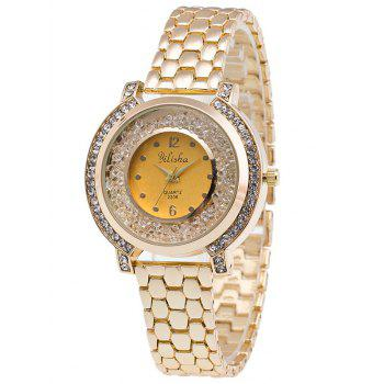 Rhinestone Beads Steel Quartz Watch