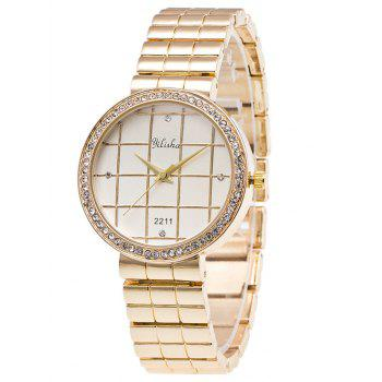 Rhinestone Geometric Steel Quartz Watch