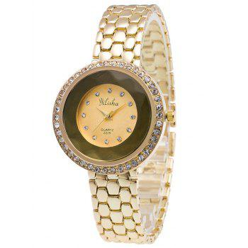 Rhinestone Steel Band Quartz Watch