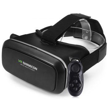 VR SHINECON 3D Virtual Reality Head-Mounted 3D Video Glasses with B100 Bluetooth 3.0 Remote Controller for 4.7 - 6.0 inch Smartphone