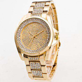 Rhinestoned Adorn Quartz Watch
