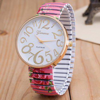 Big Dial Plate Embellished Quartz Watch