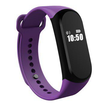 A16 BLE 4.0 ADI Sensor Heart Rate Smart Bracelet with Alarm 30 Days Standby Time -  BLACK