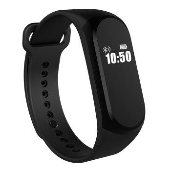 A16 BLE 4.0 ADI Sensor Heart Rate Smart Bracelet with Alarm 30 Days Standby Time - BLACK BLACK