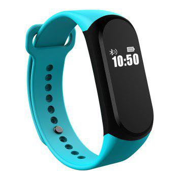 A16 BLE 4.0 ADI Sensor Heart Rate Smart Bracelet with Alarm 30 Days Standby Time - GREEN GREEN