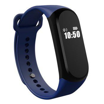 A16 BLE 4.0 ADI Sensor Heart Rate Smart Bracelet with Alarm 30 Days Standby Time -  PURPLE